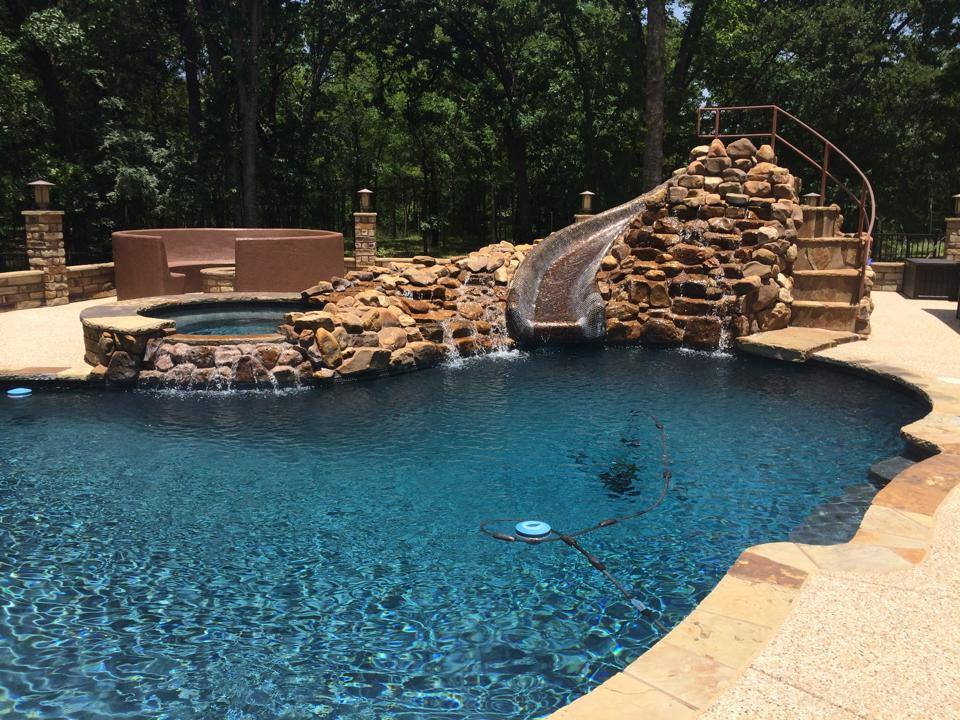 Water Slide Pool Feature